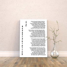 IF by Rudyard Kipling Canvas Art Print - BookQuoteDecor