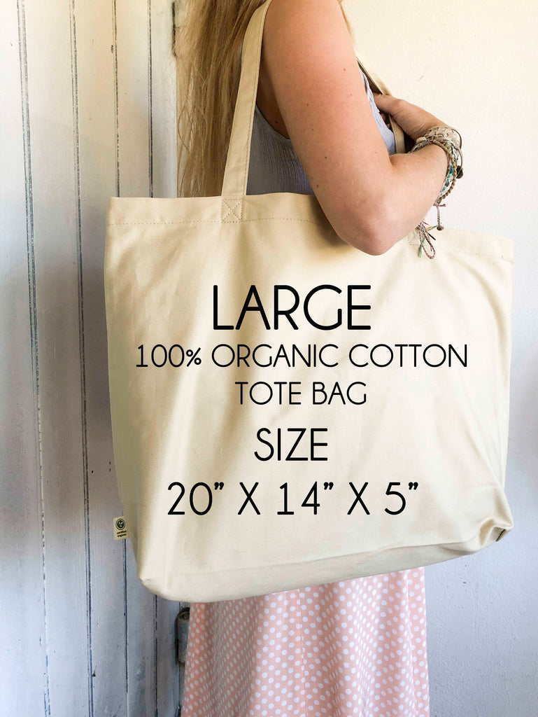 Buddha Quote Canvas Tote Bag, 100% Organic Cotton Do Not Dwell in the Past - BookQuoteDecor