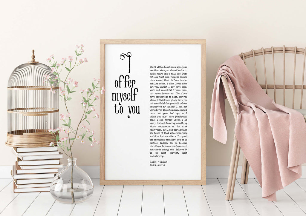 Jane Austen Persuasion Print - BookQuoteDecor