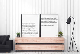 i carry your heart Framed Art Print Set Of 2 - BookQuoteDecor