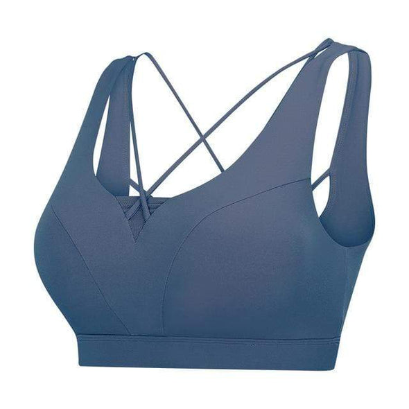 Vibe Fit Blue / L Flexi Down Sports Bra