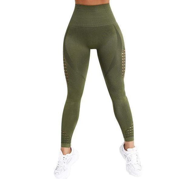 Vibe Fit Green / L Momentum Seamless Leggings
