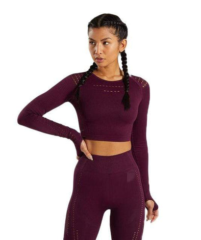 Vibe Fit Indigo / M Hexa Seamless Long Sleeve Top