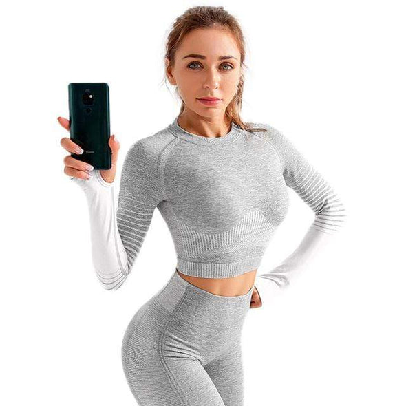 Vibe Fit Light Gray / S Train-33 Long Sleeve