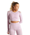 Vibe Fit Misty Rose / S Hexa Seamless Long Sleeve Top