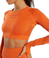 Vibe Fit Orange / M Hexa Seamless Long Sleeve Top