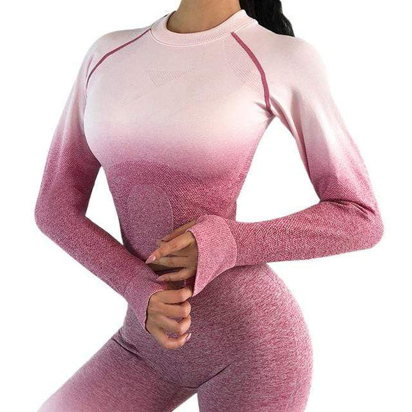 Vibe Fit Pink / L Gradient Long Sleeve