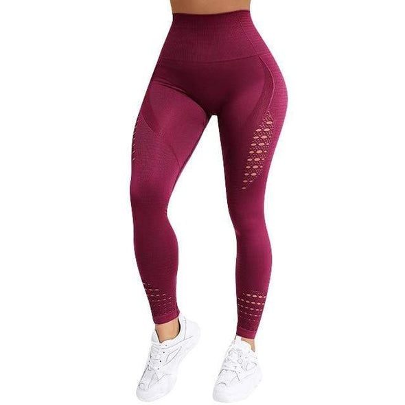 Vibe Fit Wine / L Momentum Seamless Leggings