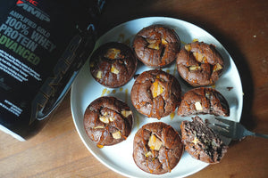 MUFFINS DE CHOCOLATE CON TROZOS DE CHOCOLATE BLANCO