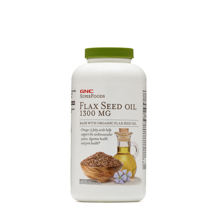 GNC NB FLAX SEED OIL 1300 180 SOFTGEL CAPS