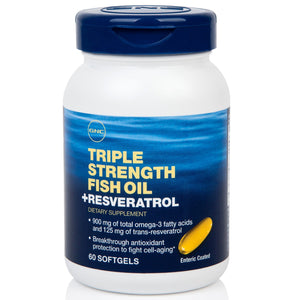 GNC Triple Strength Fish Oil Plus with Resveratrol