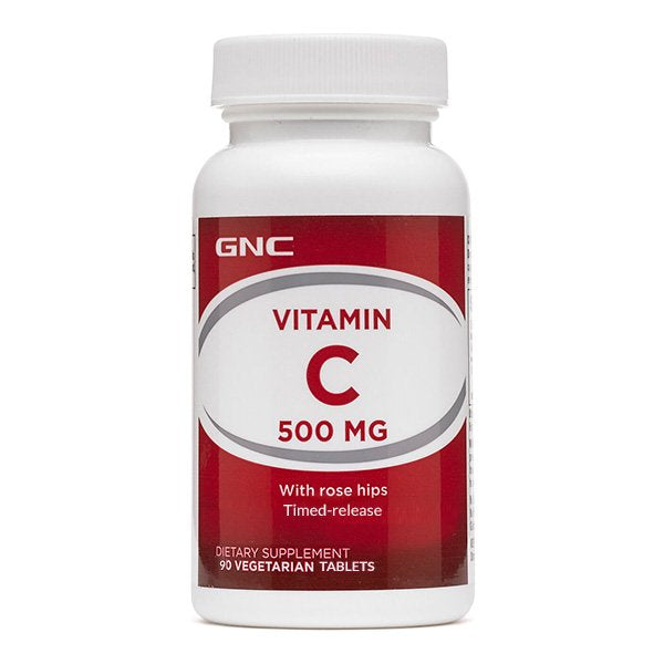 GNC VITAMIN C 500mg (with rose hips) 90 Tablets
