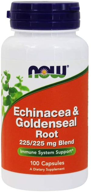 NOW FOODS ECHINACEA AND GOLDENSEAL ROOT 225/225mg BLEND 100 CAPSULES