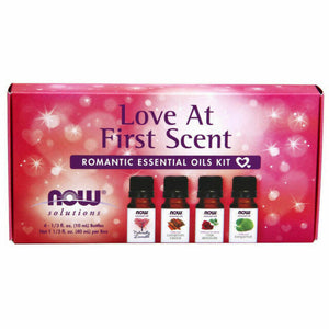NOW FOODS ESSENTIAL OIL KIT LOVE AT FIRST SCENT- 4 PCS X 10 ml