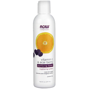 NOW FOODS VITAMIN C & ACAI BERRY PURIFYING TONER 8 Oz.