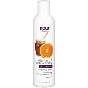 NOW FOODS VITAMIN C & MANUKA HONEY GEL CLEANSER 8 Oz.