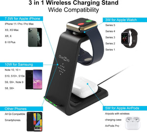 3 in 1 Fast Wireless Charger【Iphone/Samsung】
