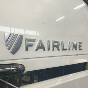 Badge 'Fairline' Crest - 2012 Matte Grey