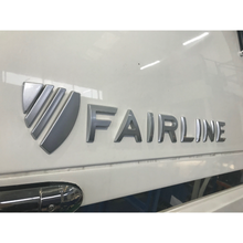 Load image into Gallery viewer, Badge 'Fairline' Crest - 2012 Matte Grey
