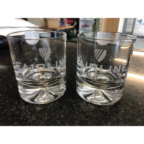 Fairline Yachts Glass Whiskey Tumbler