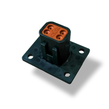 Load image into Gallery viewer, Receptacle 4Way- Welded Flange Black