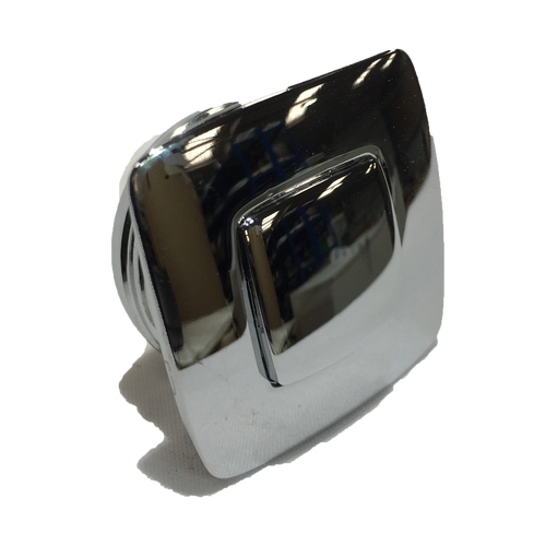 CATCH PUSH BUTTON SQUARE CHROME