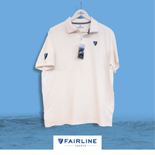 Load image into Gallery viewer, Men's White Jersey Polo