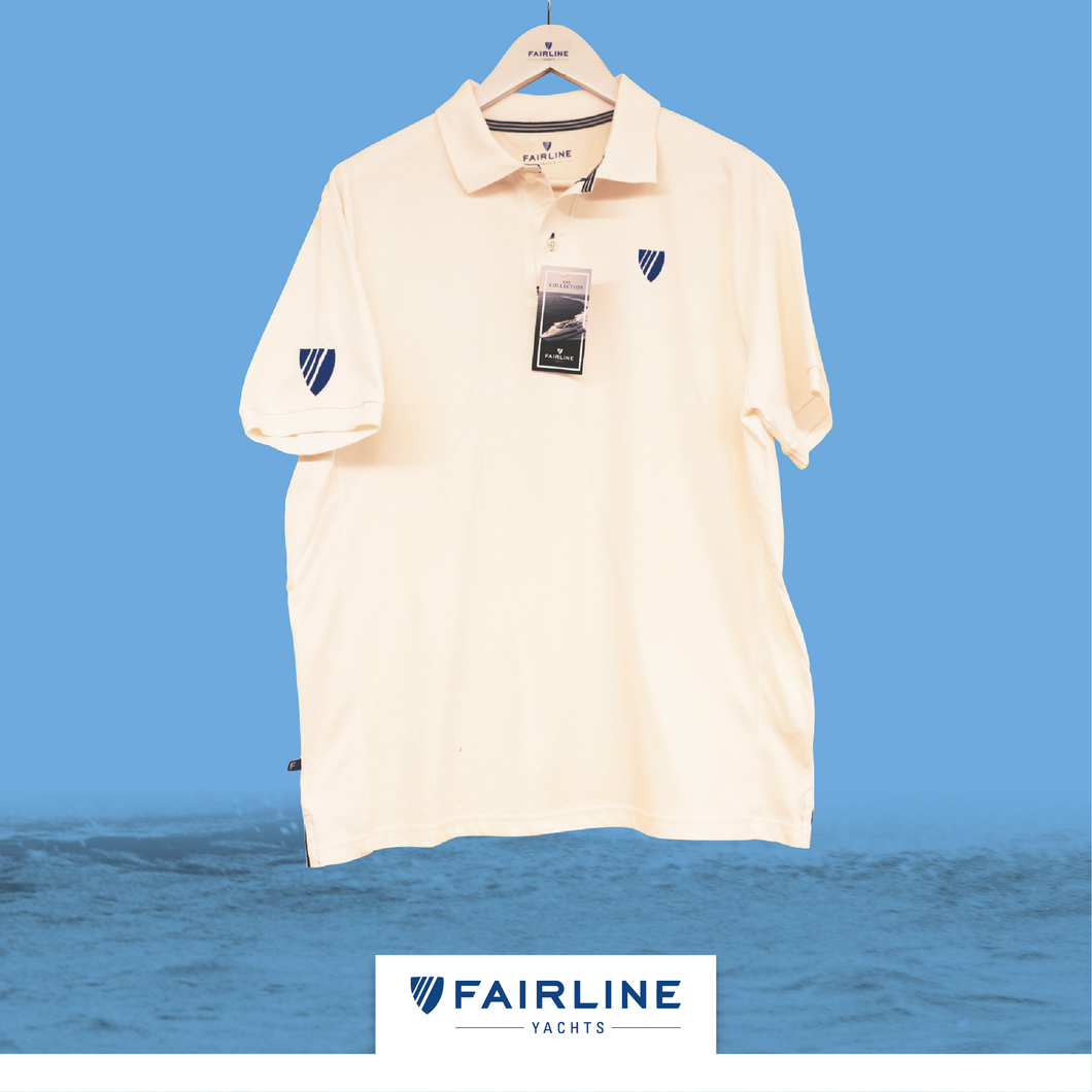 Men's White Piquet Polo