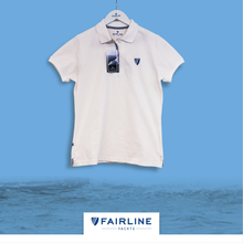 Load image into Gallery viewer, Women's White Jersey Polo
