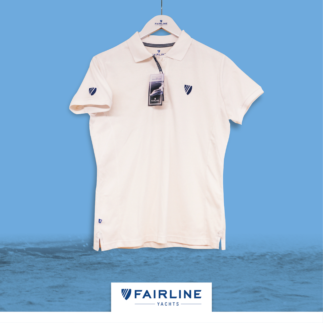 Women's White Piquet Polo