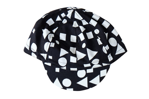 CYCLING CAP BLACK & WHITE PATTERNS