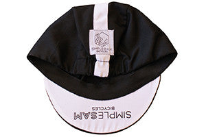 CYCLING CAP BLACK & WHITE
