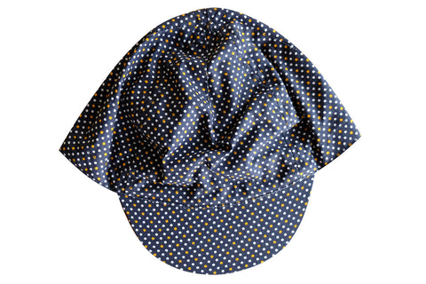 CYCLING CAP NAVY POLKA