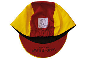 CYCLING CAP RED & YELLOW