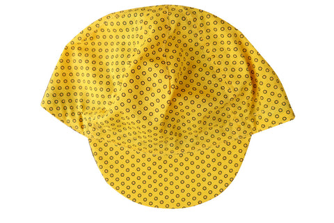 CYCLING CAP YELLOW DOTS
