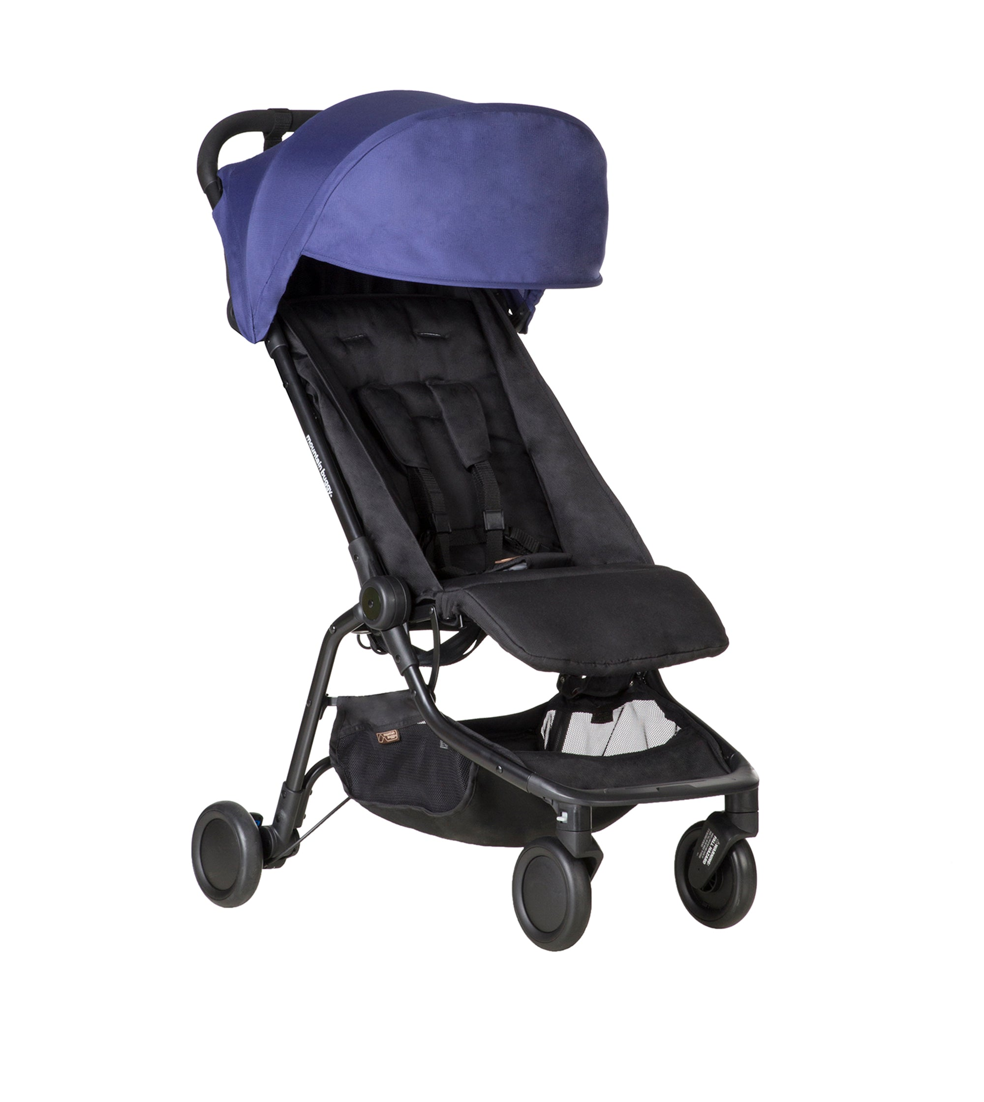 nano travel buggy shown with visor open - colour nautical blue