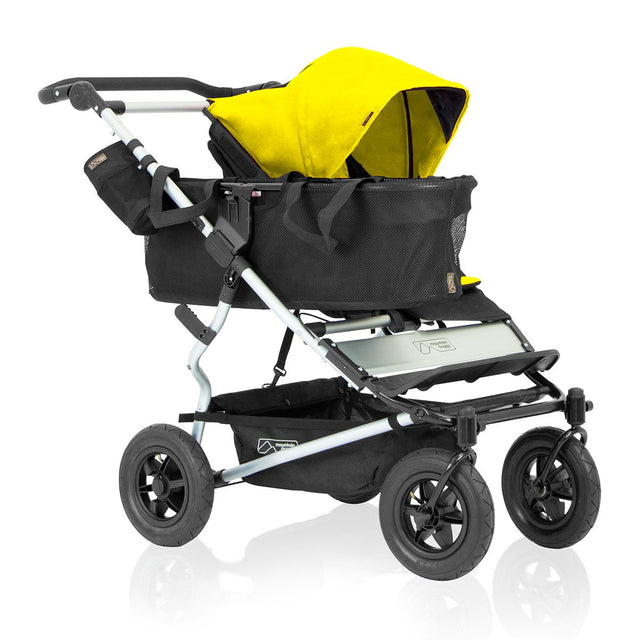 mountain buggy duet as single buggy that grows with your family 3/4 view shown in color cyber_cyber
