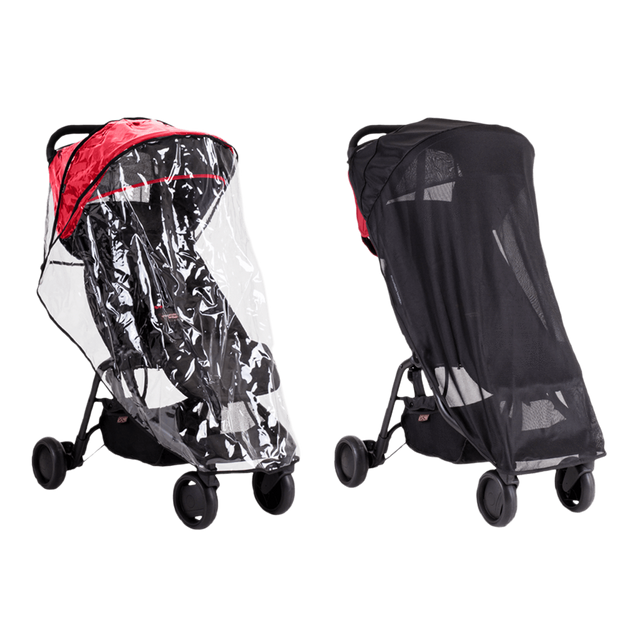 mountain buggy nano  travel stroller all weather cover set storm et storm cover 3/4 view_default
