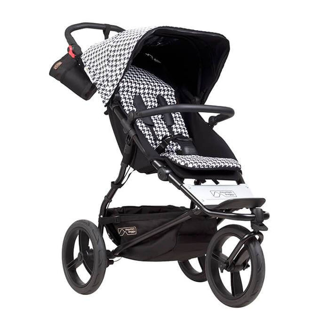 Mountain Buggy urban jungle luxury collection stroller in pepita black and white checkered colour_pepita