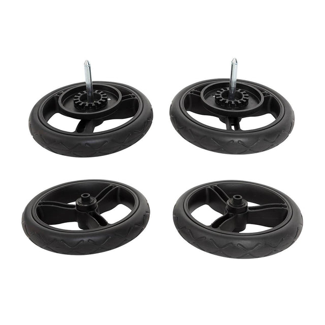 Mountain Buggy duet 10 inch aerotech wheel set of 4_black