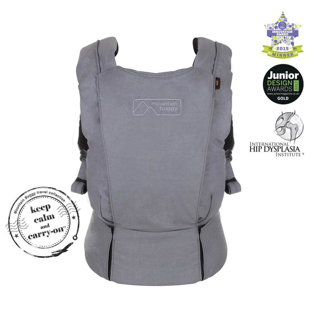 mountain buggy juno baby carrier in charcoal grey colour was award winning_charcoal