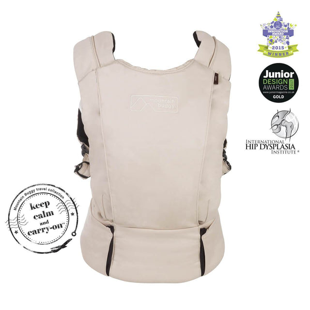 mountain buggy juno baby carrier in sand beige colour is award winning_sand