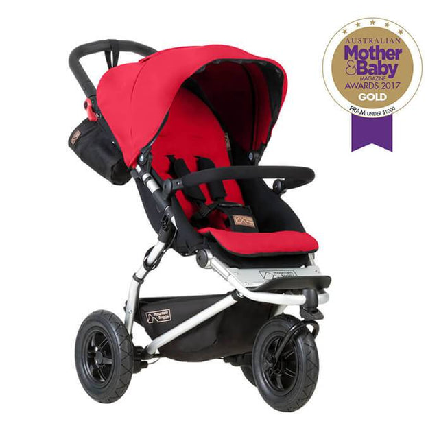Mountain Buggy swift stroller in berry red colour_berry