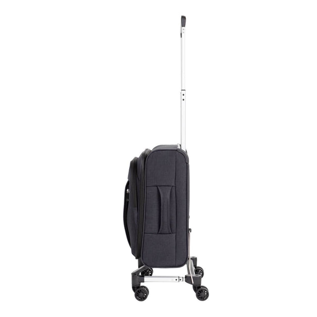 Mountain Buggy skyrider carry on luggage shown with wheels in compact mode
