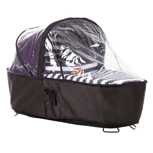 Mountain Buggy carrycot storm cover on an urban jungle luxury carrycot in nautical_default