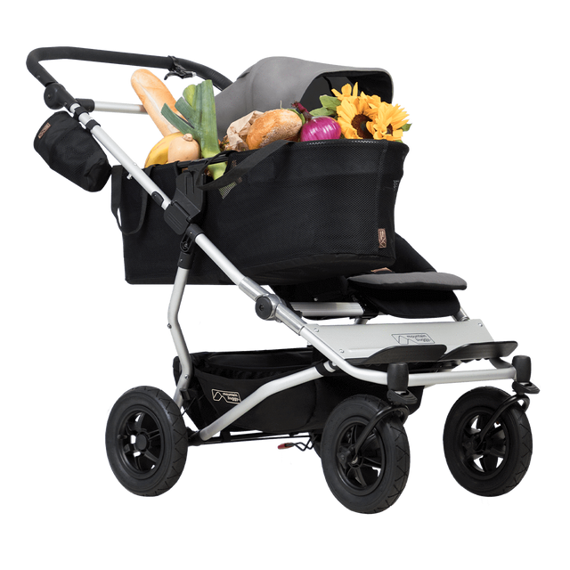 Mountain Buggy duet as a single buggy en couleur silver_silver