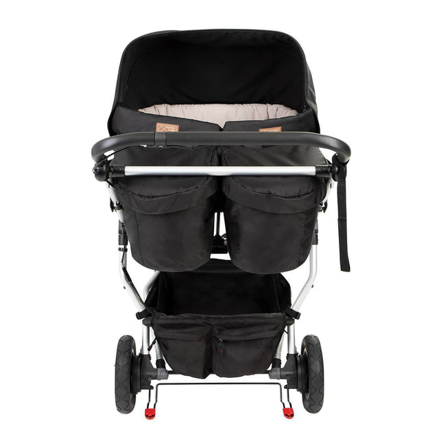 rear parents view of duet buggy with the carrycot plus installed_black