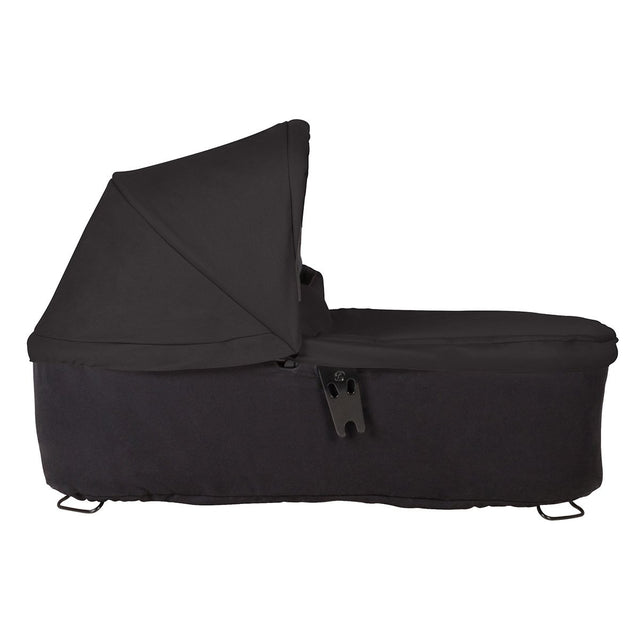mountain buggy 2018 duet carrycot plus side view shown in color black_black