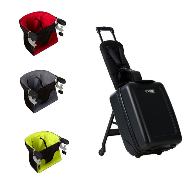 Mountain Buggy bagrider kinds ride on suitacese and pod high chair travel solution_black