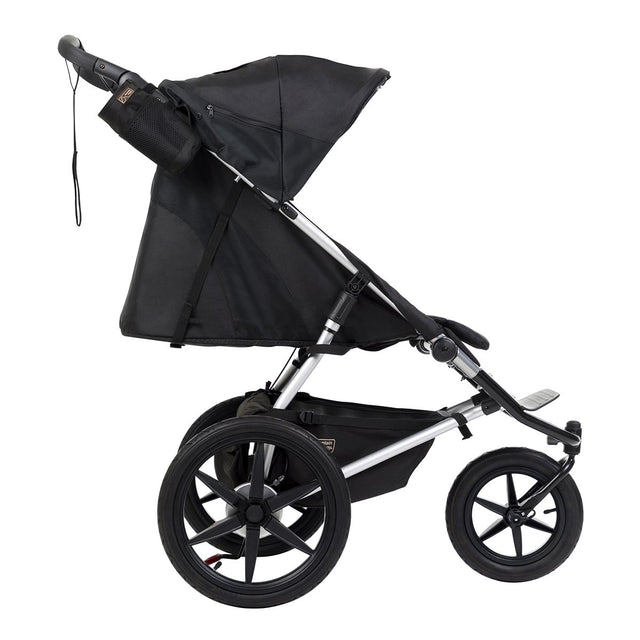 mountain buggy terrain active all terrain jogging stroller lie flat position side view shown in color onyx_onyx